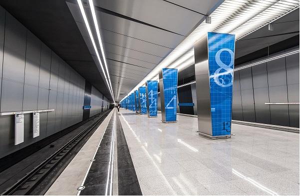 Станция метро Ломоносовский Проспект, г. Москва (элементы колонн)